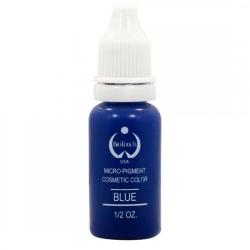 пигмент для перманентного татуажа  цв.голубой -blue bio touch  15мл. кремовая ,плотная текстура и насыщенный цвет. BIO TOUCH пигменты
