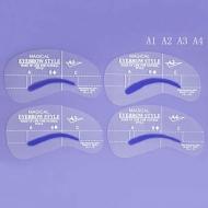 Набор трафаретов д/бровей  (формы 4вида) с разметкой