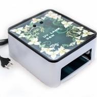 УФ-лампа (цветочный орнамент, белый каркас, мощность 36Вт).