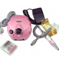 Машинка для маникюра и педикюра 35000 об/мин с компл.насадок розовая 202