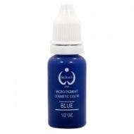 """Пигмент для перманентного татуажа  цв.Голубой -Blue """"Bio Touch""""  15мл. Кремовая ,плотная текстура и насыщенный цвет."""