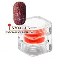 Цветная акриловая пудра ФП розовый с глитером № 1.5, 3гр