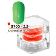 Цветная акриловая пудра ФП салатовый неон № 2.3, 3гр
