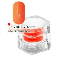 Цветная акриловая пудра ФП оранжевый неон № 2.4, 3гр
