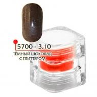 Цветная акриловая пудра ФП темный шоколад с глитером № 3.10, 3гр