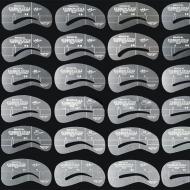 Набор трафаретов д/бровей  (формы 24вида) с разметкой